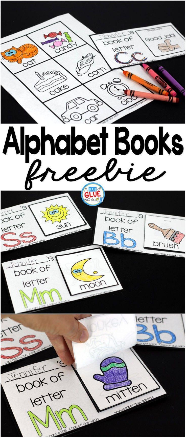 Alphabet books for preschool and kindergarten!