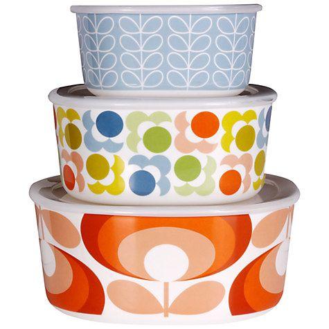Buy Orla Kiely Melamine Tins, Set of 3 Online at johnlewis.com