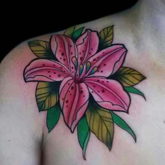 Lily Flower Tattoos On Wrist: Lily Flower Tattoo Designs Meanings
