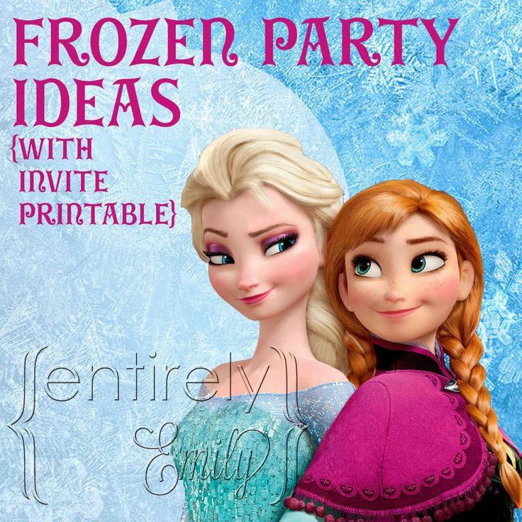 101 best party ideas disneys frozen invites images on pinterest entirely emily frozen party ideas with invitation printable stopboris Image collections