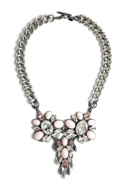 Pastel Pink Crystal Floral Necklace by Anton Heunis... This is the one!
