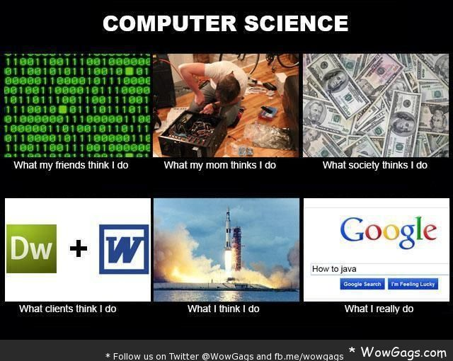 """definitely true. All computer science teachers: """"If you can't figure it out, Google it."""""""
