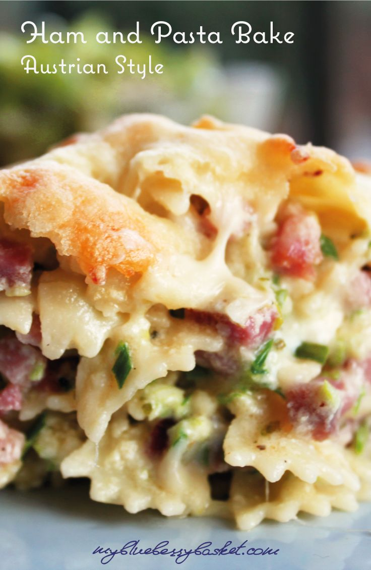 Ham and Pasta Bake. This old traditional Austrian recipe was handed down to me by my granny and it is best served with some green salad.