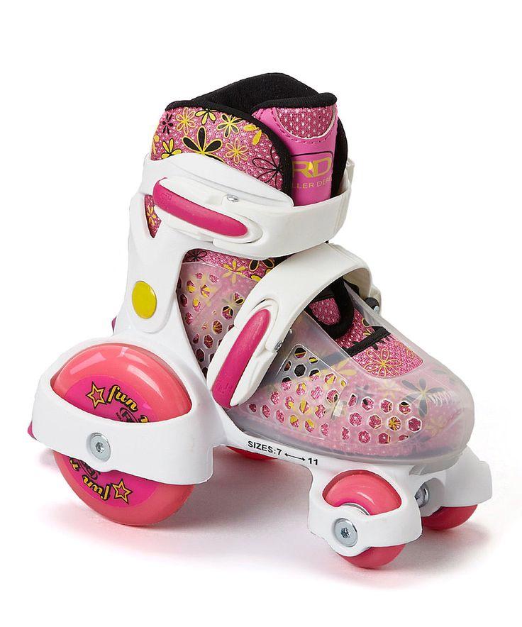 Love this Roller Derby Fuchsia & White Fun Roll Roller Skates - Kids by Roller Derby on #zulily! #zulilyfinds