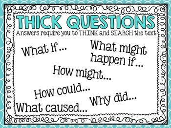 Thick and Thin Question Charts Freebie