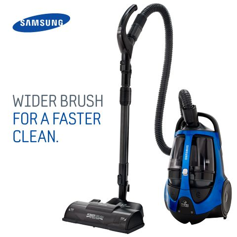 Samsung Vacuums take the stress out of cleaning day.