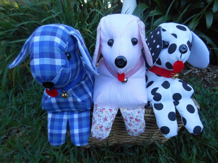 Three doorstop dogs