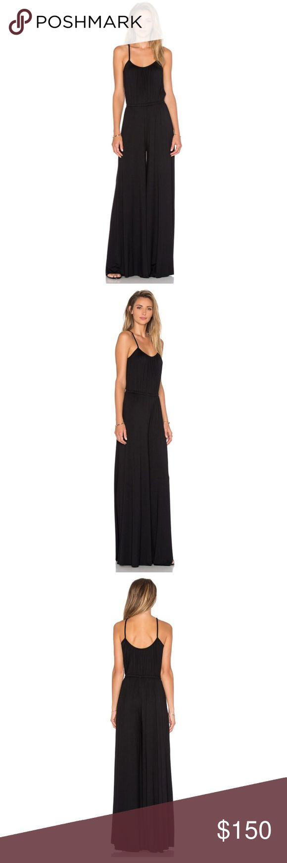 Rachel Pally Harlan Jumpsuit *NWT* Brand new with tags. Beautiful black jumpsuit by Rachel Pally. Stretchy and flattering. So comfortable! Has great length with raw hems for easy alteration if necessary! Rachel Pally Pants Jumpsuits & Rompers