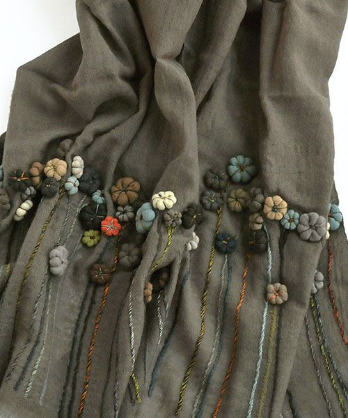 Sophie digard flower applique scarf TIN