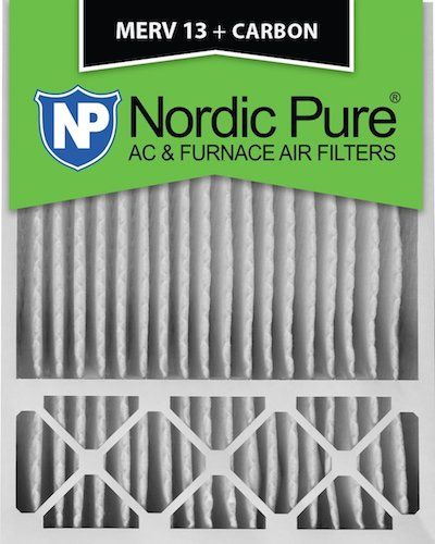 7. Nordic Pure 20x25x5HM13+C-1 Honeywell Replacement MERV 13 Plus Carbon AC Furnace Air Filter