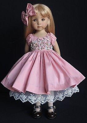 "OOAK Embroidered Ensemble for Effner 13"" Little Darling Dolls"