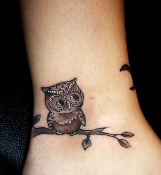 Powerful owl tattoo (2) - owl foot tattoo on TattooChief.com