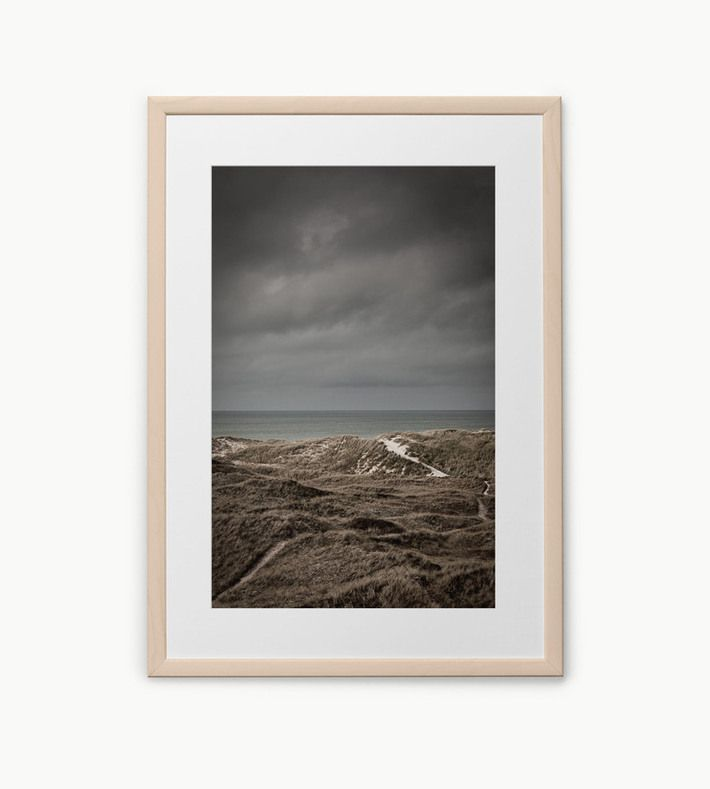 "Limited edition photography by Maria Louisa Rosendal.   Photograph of the dunes at Skagen on a beautiful autumn day. The dunes by the North Sea are some of the most natural landscapes in Denmark and it is wonderful to look beyond the landscape at such a beautiful place.  The photograph is printed on a very special FSC certified 170 g/m2 paper in Denmark.   Size: 30 X 40 cm. Limited to 500 editions. Each print is signed and numbered.  Read more... <a href=""http://foto-factory.dk"" ..."
