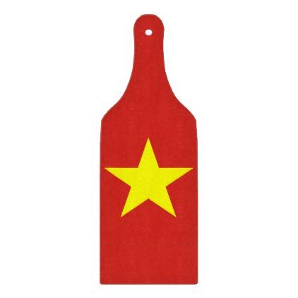 Glass cutting board paddle - Vietnam flag - trendy gifts cool gift ideas customize