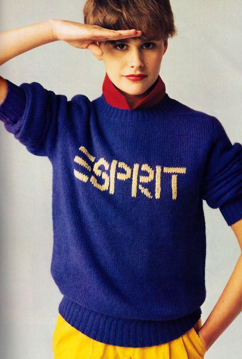 Esprit, Mademoiselle magazine, September 1983. Photograph by Oliviero Toscani.