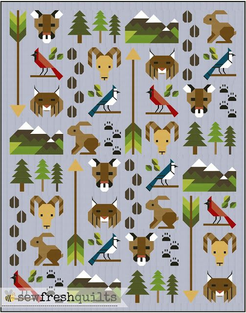 Sew Fresh Quilts Update For Forest Friends Quilt Pattern