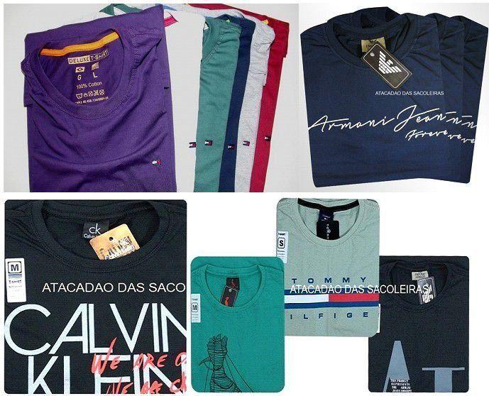 Camisetas sendo 10 Deluxe e 10 estampadas 20 Peças - FRETE GRÁTIS PAC - Roupas no Atacado Atacadão Das Sacoleiras Miami Brasil, Réplicas