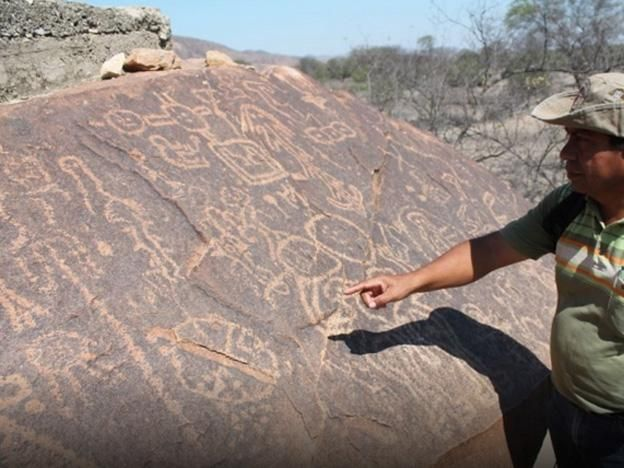 """Archaeologists discover ancient astronomy lab in northern Peru.  """"Stone altar engraved with astronomical symbols is 3,500-4,000 years old ... [and is] evidence of an astronomical laboratory from the formative stage."""""""