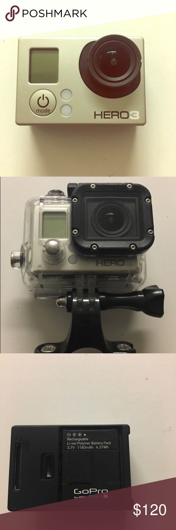 GoPro Hero 3 Silver GoPro 3 with protective water proof case gopro Other