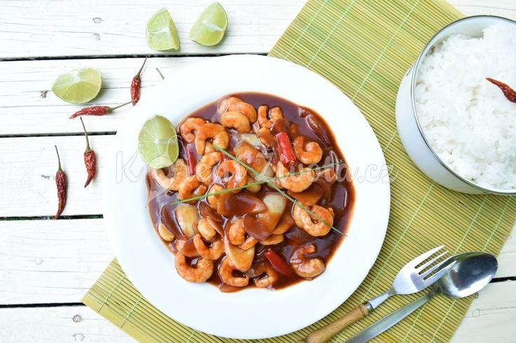 Indonéská kuchyně: Udang asam manis, krevety ve sladkokyselé omáčce | KořeníŽivota.cz