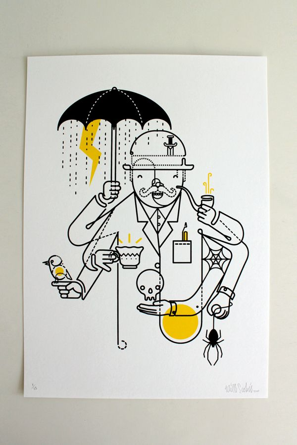 FreakShow Illustration Exhibition by Will Scobie, via Behance