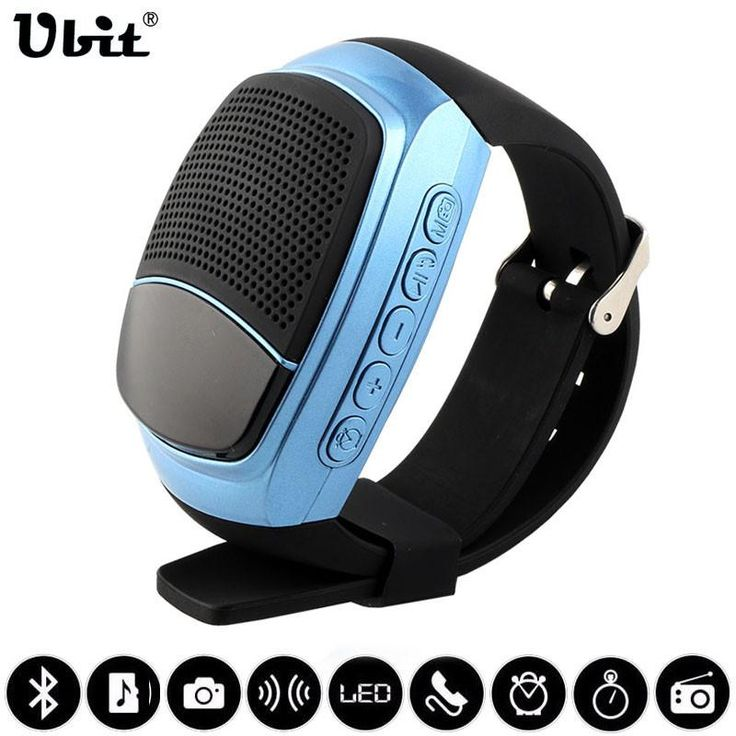 Ships from US-Smart Watches Stopwatch Alarm Clock Sports Music Watch Hands-free FM Radio Self-timer Anti-Lost Alarm Bluetooth Speaker