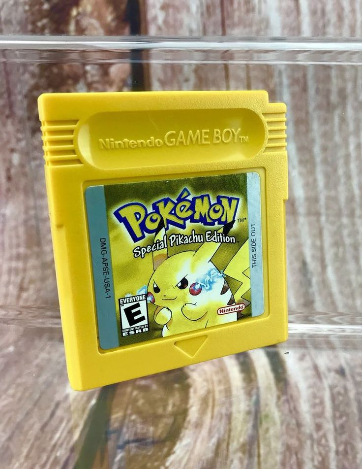 Pokemon Yellow Version Special Pikachu Edition Original Nintendo Game Boy Colour