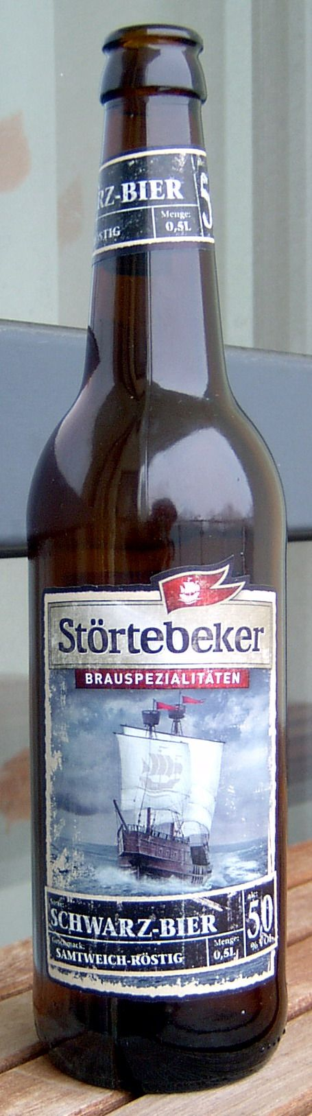 "This is my favorite German beer. Named after the pirate Klaus Störtebeker, a german Robin Hood of the North Sea. This is a Schwarzbier ""black beer"". http://www.oktoberfesthaus.com"