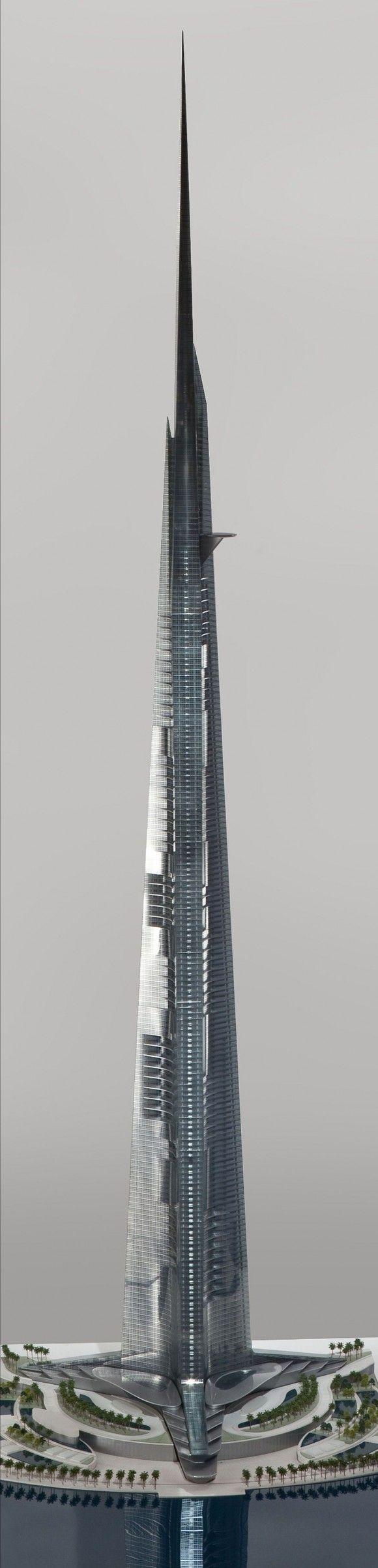 Burj al Mamlakah in Jeddah, Saudi Arabia, 1,000 m (idea).: Kingdom Torre, Architecture Magnificent, Architecture Highrise, Torre Model, 1000, Majestic Towers, Architectural Towers