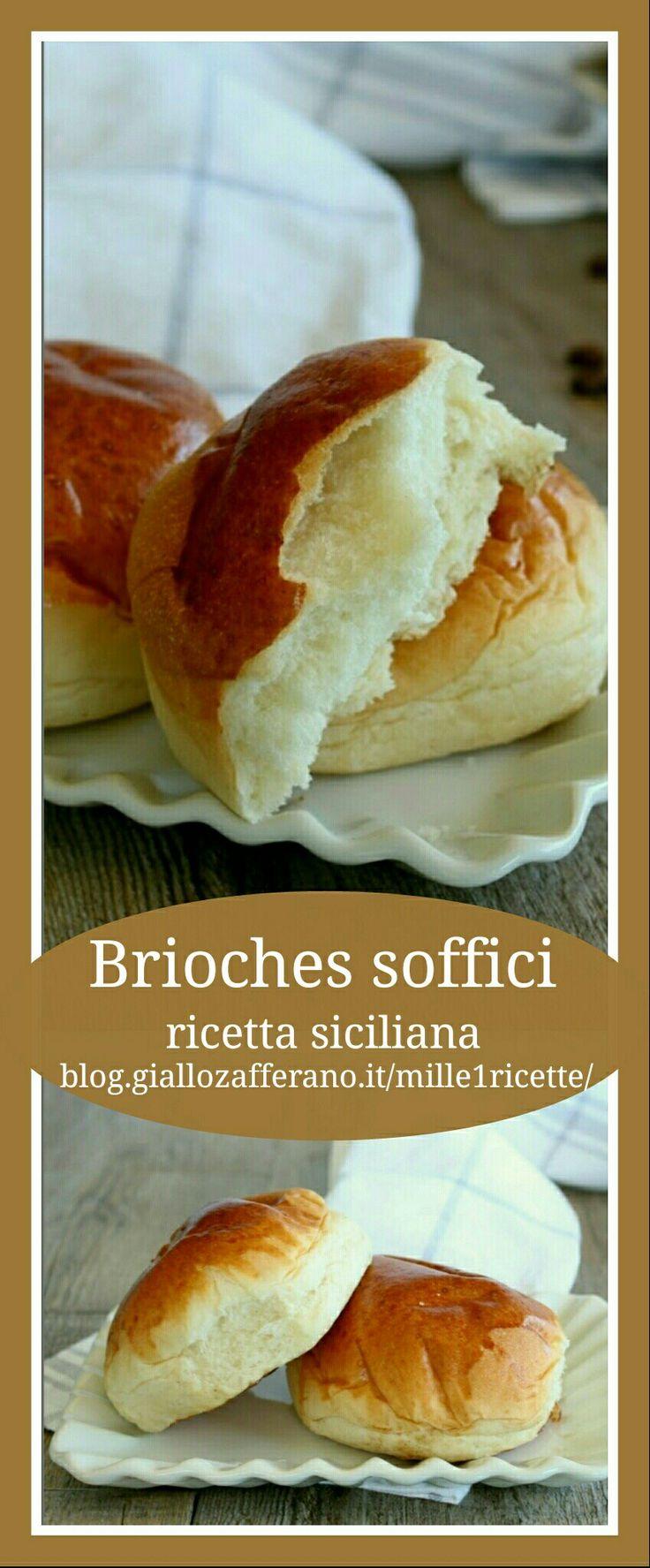 Brioches soffici, ricetta Siciliana http://blog.giallozafferano.it/mille1ricette/brioches-soffici-ricetta-siciliana/