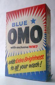 Vintage Blue Star Omo Washing Powder Lever Brothers - 1960s Large Size