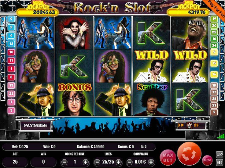 Drehe kostenlos online Automaten Spiel Rock'n Slot - http://freeslots77.com/de/rockn-slot/