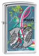 Zippo Pisces High Polish Chrome Lighter  #Zippo #Pisces #zodiac #eLighters