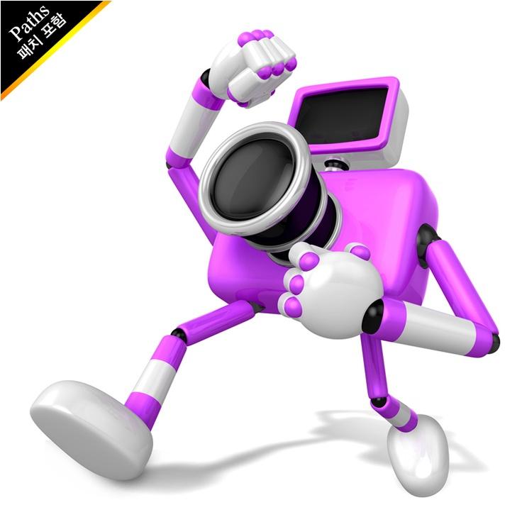 무술을 하고있는 보라색 카메라 캐릭터. 크리에이트 3D 카메라 로보트 시리즈. (EXPN010170)  A Purple Camera Character and a martial arts. Create 3D Camera Robot Series. (EXPN010170)  Copyrightⓒ2000-2013 Boians.com designed by Cho Joo Young.