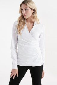 Cotton Mix Stretch Wrap Shirt