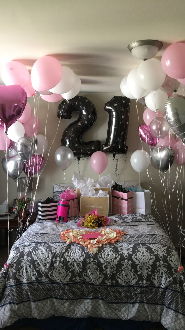 21st Birthday surprise! Birthday room decorations, 21st