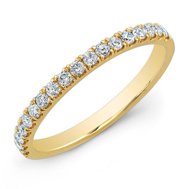 Classic Style Half Eternity Yellow Gold Diamond Wedding Band 1800loosediamonds Ring BandsClassic StyleLos Angeles