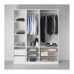 コンビネーション 扉なし - PAXシステム - IKEA PAX ワードローブ, ホワイト ...