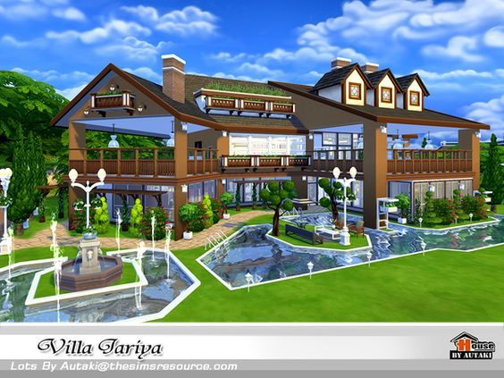 Villa Jariya By Autaki At Tsr Via Sims 4 Updates Sims 4