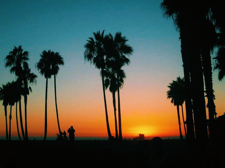 Sunset, Venice Beach California. VSCO cam
