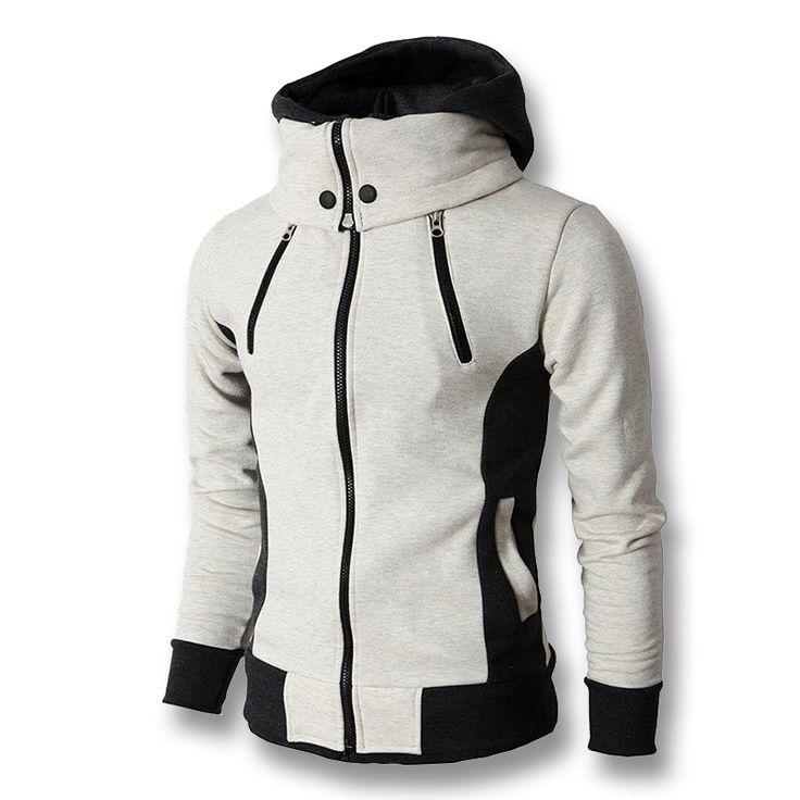 ==> [Free Shipping] Buy Best 2017 Men Hoodies with Zipper Sweatshirts Sportswear Hooded Jackets Men's Casual Fashion Slim Fit Hoodies Hip Pop Sportswear Male Online with LOWEST Price | 32688546165