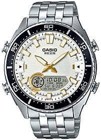 Casio Men's Silver Analog-Digital Watch #casio #newarrivals #men #women #style #giftideas #watches