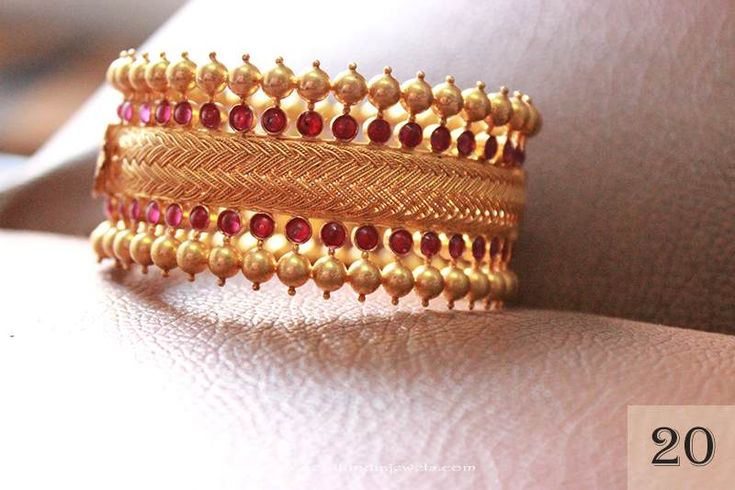 Gold Ruby Bangle Designs, Gold Ruby Bangle Collections.