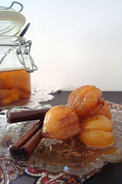 5 Sentidos en la cocina: Castañas en almíbar
