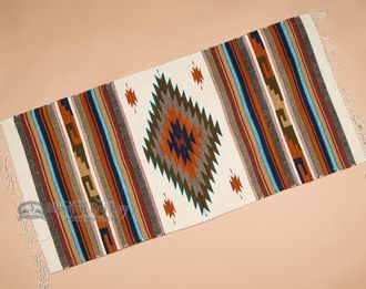 "Southwestern Zapotec Indian Rug 30""""x60"""" (46)"