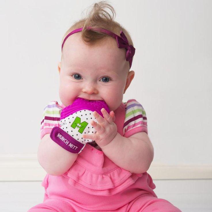 Teething Mitt (With images) | Baby teething symptoms ...