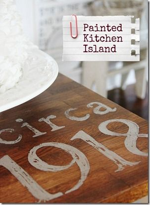Painted Kitchen Island Tutorial. Skip the island, I want to do this to my dining table.
