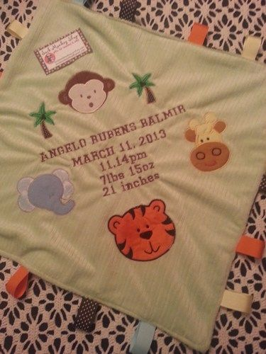 198 best personalized baby gifts images on pinterest machine this adorable minky personalized blanket is a perfect keepsake for the new little one it is approx x one side has chocolate brown with lime green dot minky negle Images