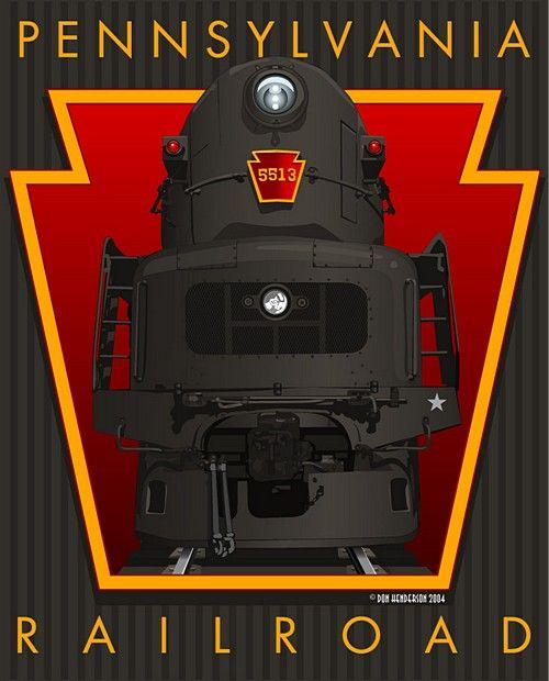 Sunday Streamline #50: The Big T poster by Don Henderson for the Pennsylvania Railroad http://www.dieselpunks.org/m/blogpost?id=3366493:BlogPost:176220