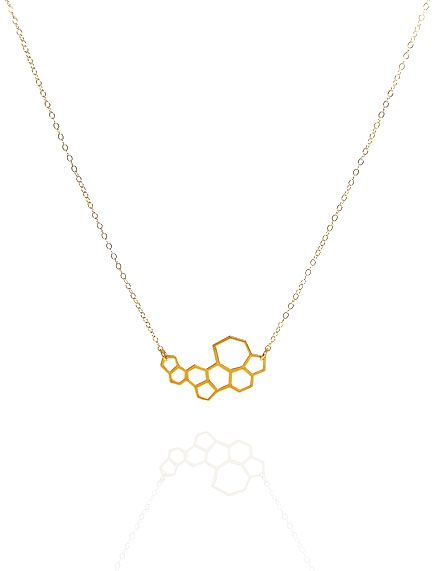 this necklace matches our players' helmets // Honeycomb necklace